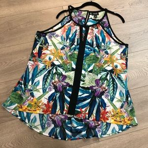 Nicole Miller Floral Top XL
